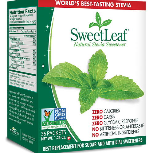 SweetLeaf Stevia en Sobres x70