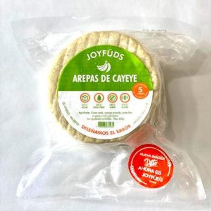 Arepas Ahuyama, Cayeye o Yuca Paquete x 5 unidades