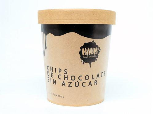 Chips de chocolate sin azúcar 250g Maum
