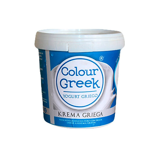 Colour Greek yogurt griego krema griega 1000 gramos