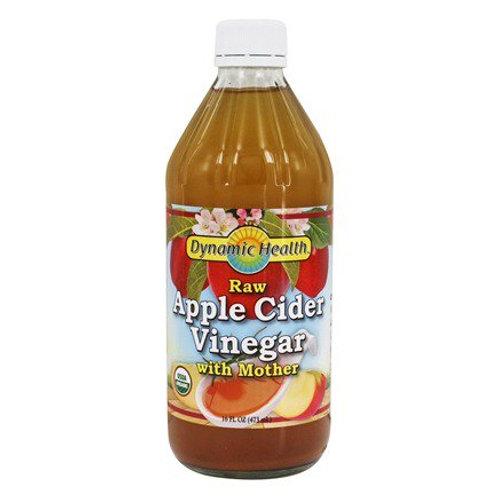 Vinagre de sidra de manzana crudo orgánico con la madre - 16 oz. fl