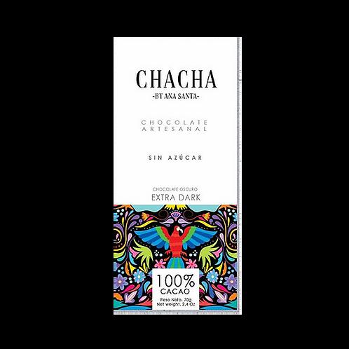 Chocolate 100% sin azúcar Chacha 70g