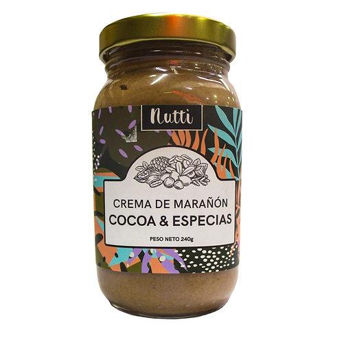 Crema de Marañon Cocoa y Especias Nutti 240 g