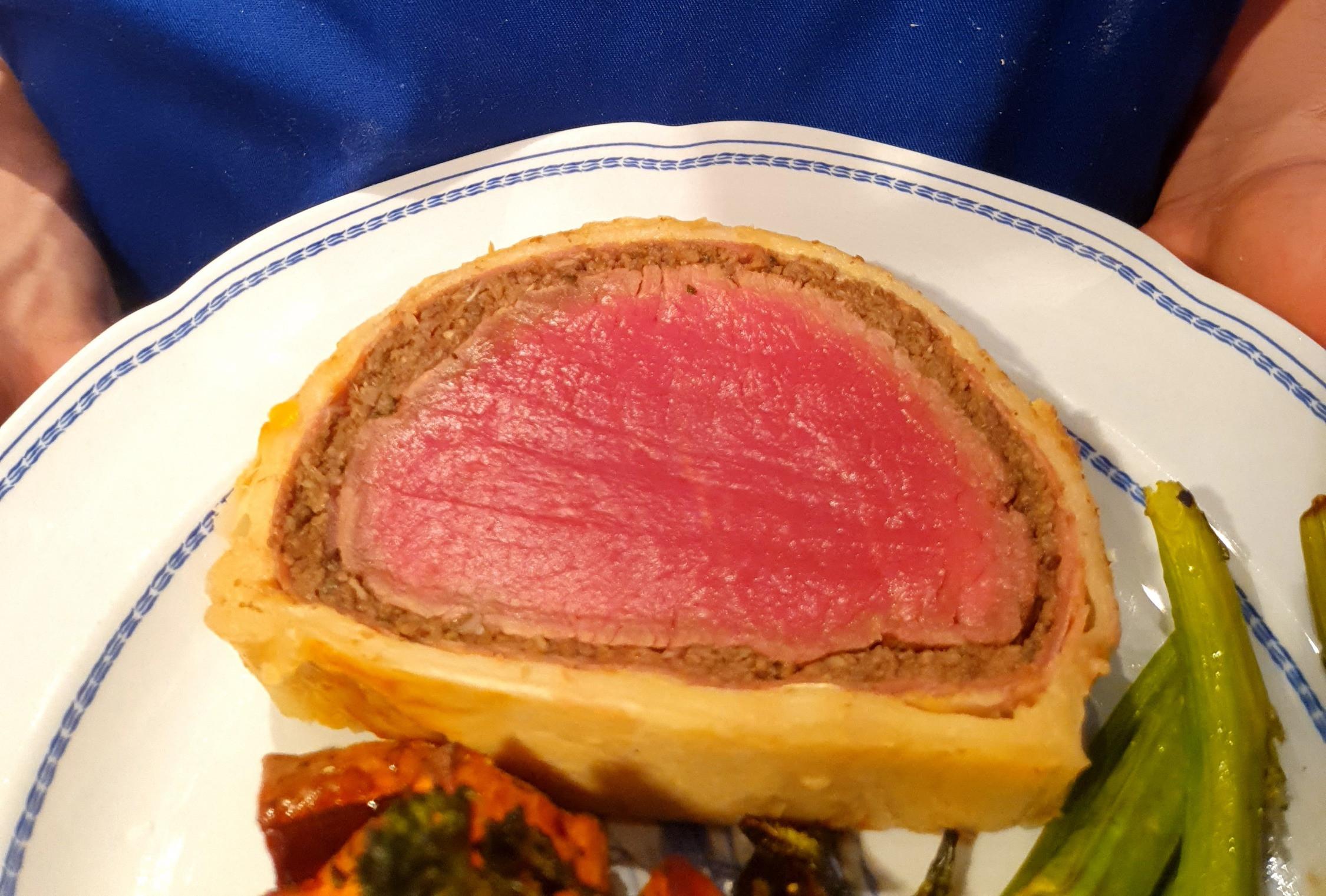 Beef Wellington, 5.30pm Fri 26th Nov
