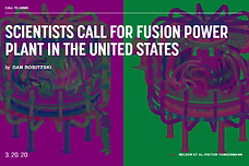 SCIENTISTS CALL FOR FUSION POWER PLANT I
