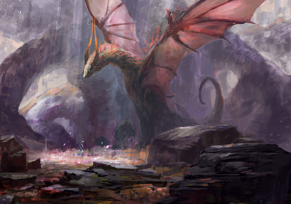 Dragon Basking In The Sun