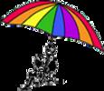 MCCDC Logo - 2 Children Under a rainbow color umbrella