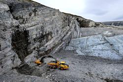 Schiefer Steinbruch Norwegen