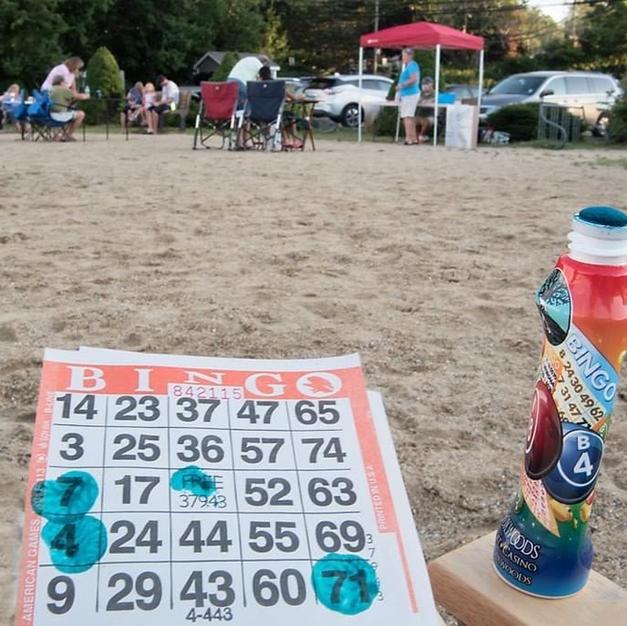 Beach Bingo last Tuesdays of month 6/29, 7/27, 8/31