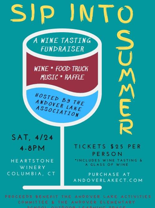 Sip into Summer Wine Tasting Fundraiser