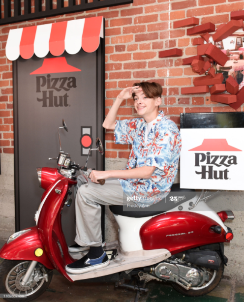 Jonah Beres Pizza Hut's Pizzahut's ComicCon wall 2019