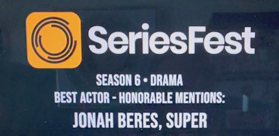 Jonah Beres- Best Actor Honorable Mention SeriesFest 2020