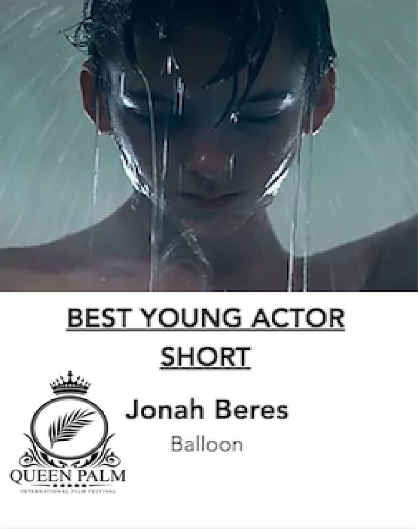 Jonah Beres Best Young Actor Queen Palm Film Festival