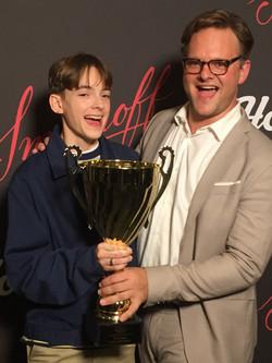 Jonah Beres HollyShorts GrandPrix trophy 2020