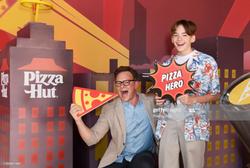Jonah Beres Pizzahut's ComicCon wall 2019