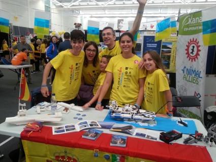Experiencia Equipo Aldeatrón Robotix de FLL Canarias en el IOC