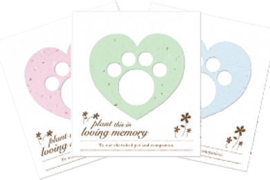 Parting Tails® Forget-me-nots, pet memorial card (Set of 12)