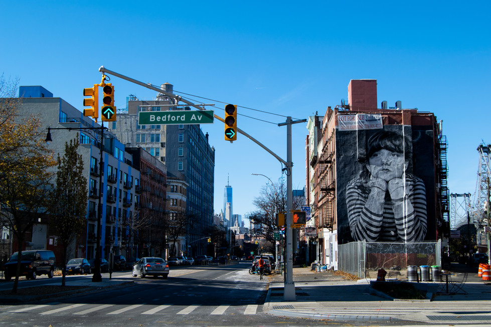 Contemplation on Bedford Avenue