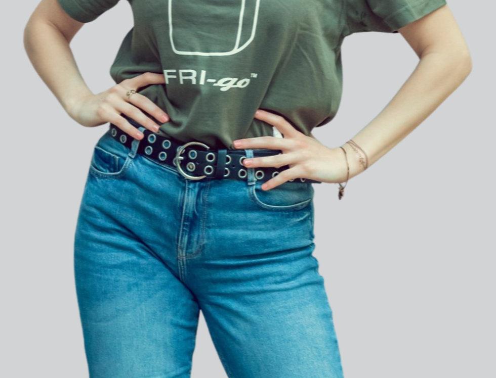 T-shirt in cotone con stampa FRI-go MILITARY
