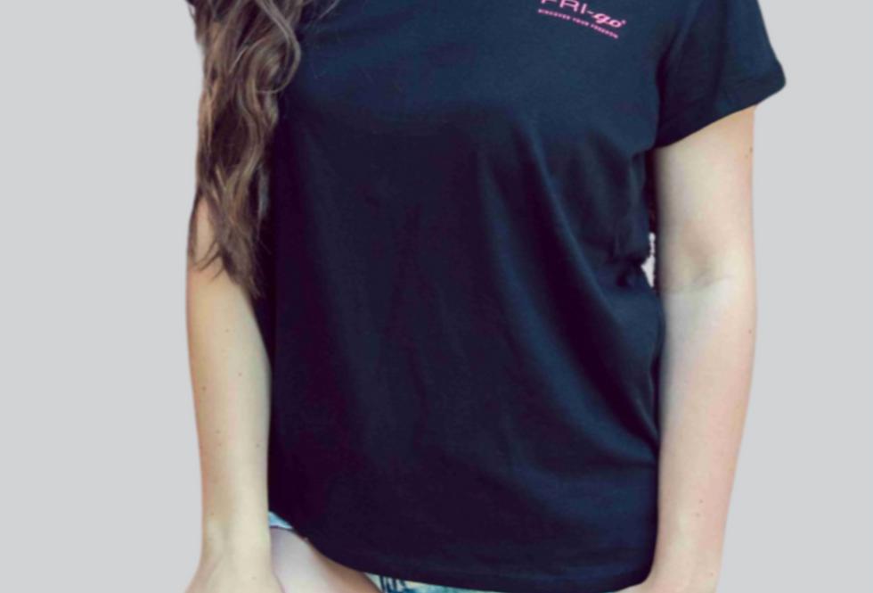T-shirt in cotone con stampa FRI-go BASIC