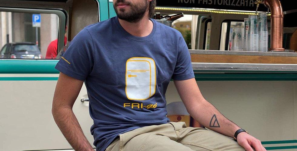 T-shirt in cotone con stampa FRI-go BEACH