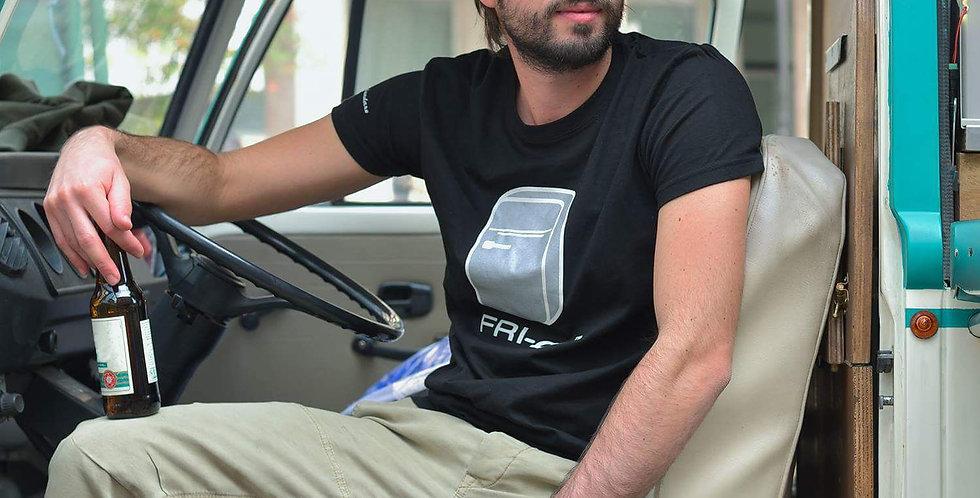T-shirt in cotone con stampa FRI-go BLACK