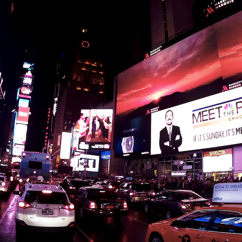Wide Angle shot at Times Square