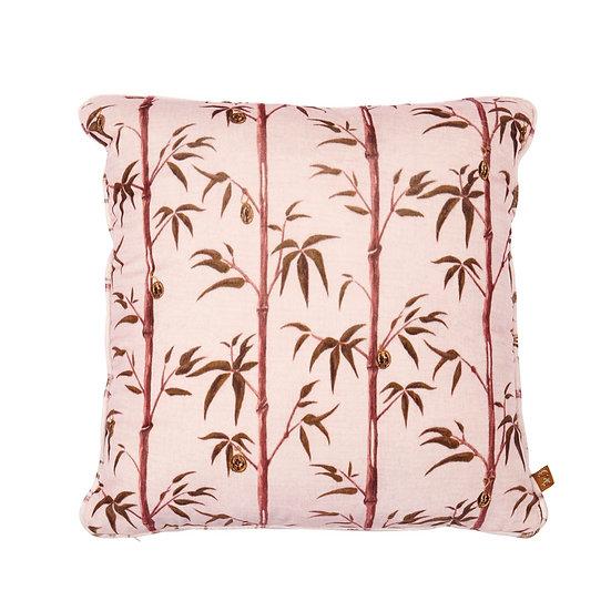 Square Velvet Cushion - Money Tree in Valentine
