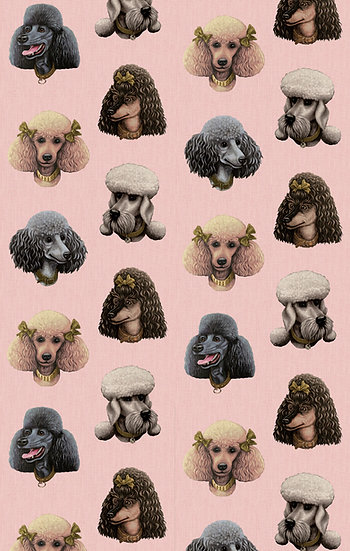 Poodle Parlour in Pink Paws - Wallpaper