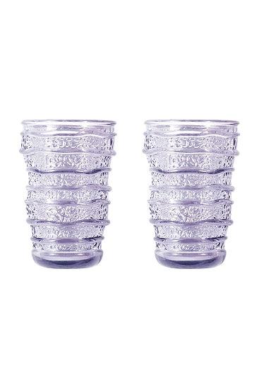 Set of 2 Glassware - Lavender
