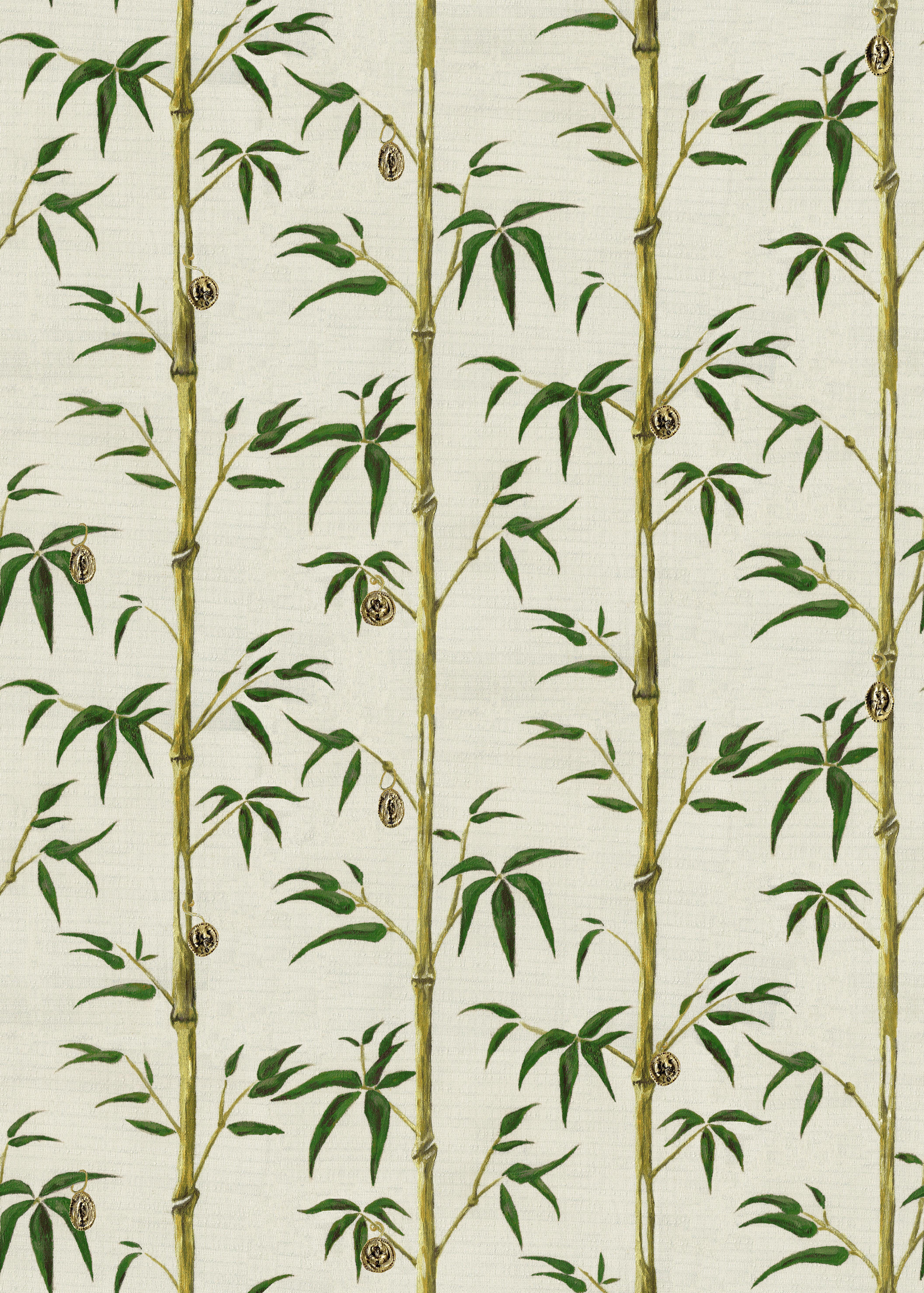 Money Tree In Bamboo Wallpaper