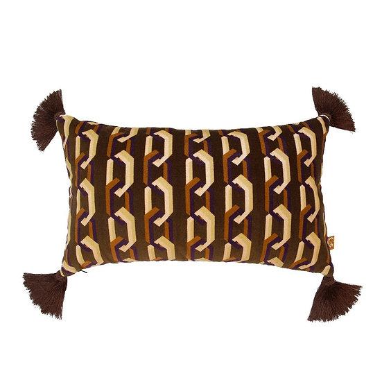 Geometric Rectangular Velvet Cushion