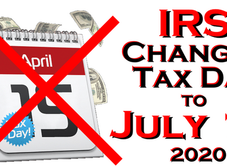 Tax Due Date Now July 15- Prepare your returns now for your refund!