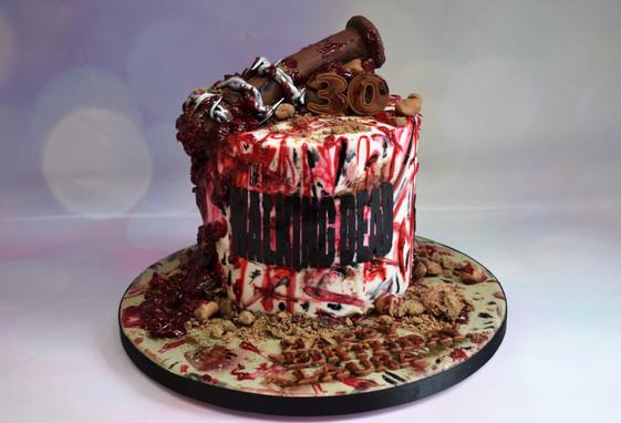 The Walking Dead Lucille Cake (1).JPG