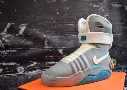 Back To The Future Nike Air Mags cake