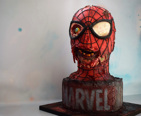 Zombie Spider-Man cake