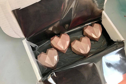 Chocolate Geo Cake Hearts