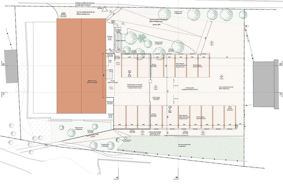 EC architecte_Plan projet des aménagemen