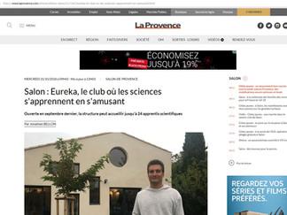 Publication dans La Provence: Ouverture du Club de science à Salon!