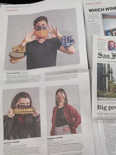 San Francisco Chronicle story on face masks by Tony Bravo. Nov. 22, 2020. Sarah Kidder is one of the featured mask wearers