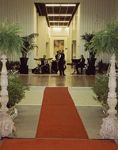 Coporate event entry way by L'Atelier D'Ambiance