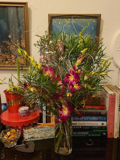 Orchid arrangement for the holidays by L'Atelier D'Ambiance
