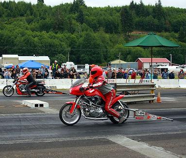 Drag racer in Forks, Washington