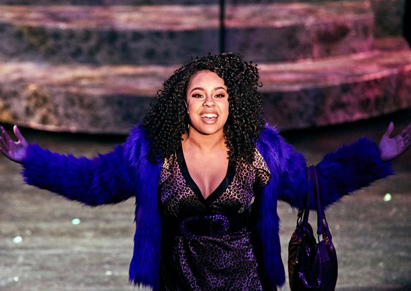 Phoebe Koyabe as Deloris Van Cartier in Sister Act at Limelight Performing Arts