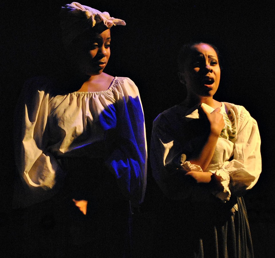 Phoebe Koyabe as Alice's daughter in Big River at Mesa Encore Theatre