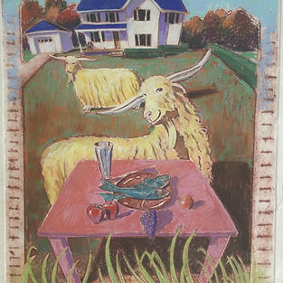 Still Life With Happy Goats