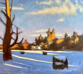Ellis Hollow Winter Light Sketch