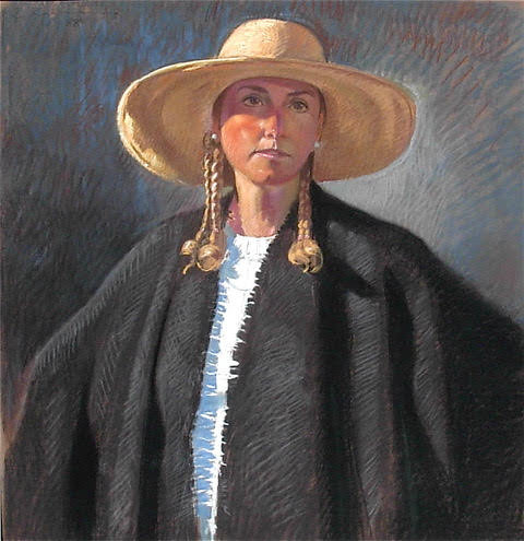 Judi in a Cape and Hat