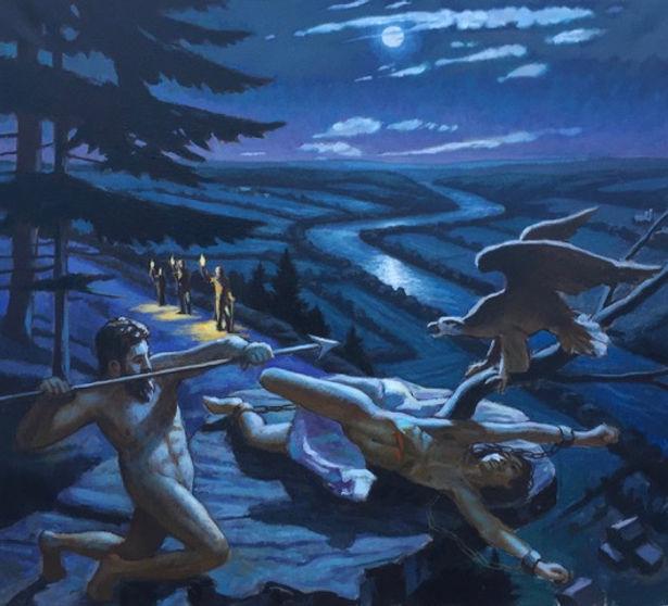 "Prometheus_Nocturne,_Susquehanna""_Oil_on"