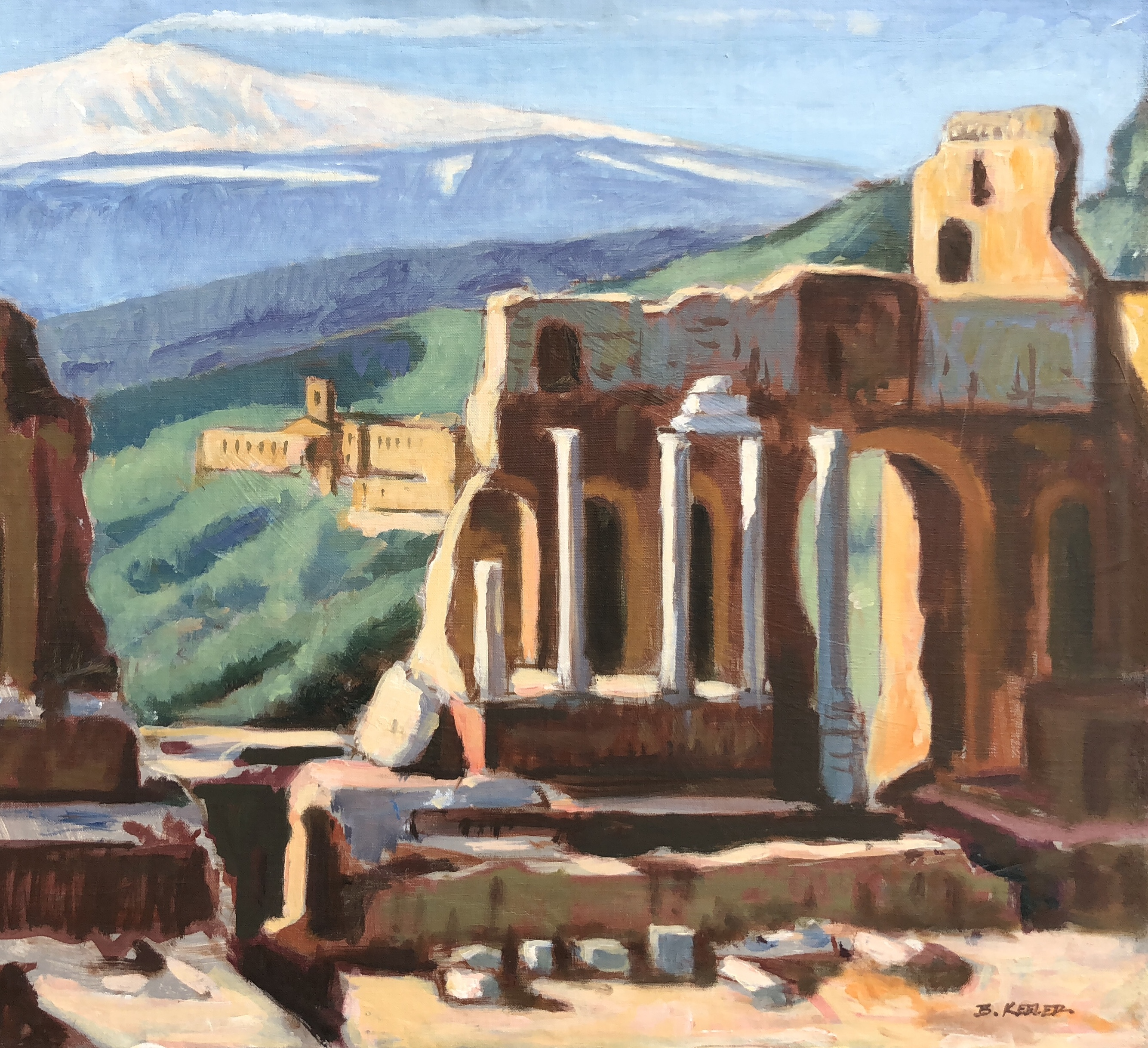 Theater at Taormina with Mt. Etna